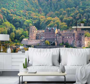 Sind Sie fasziniert von alten Gebäuden? Dann sollten Sie unbedingt diese Landschafts Fototapete mit dem abgebildeten Schloss Heidelberg kaufen!