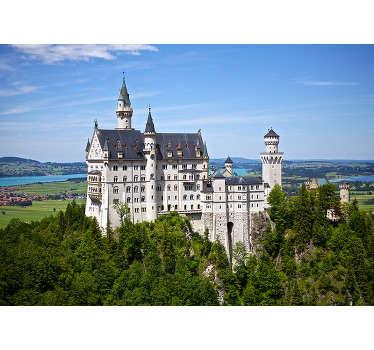 Sind Sie fasziniert von alten Schlössern und Architektur? Dann ist dieses malerische Tapete mit Schloss Neuschwanstein in Deutschland die ideale Wahl!