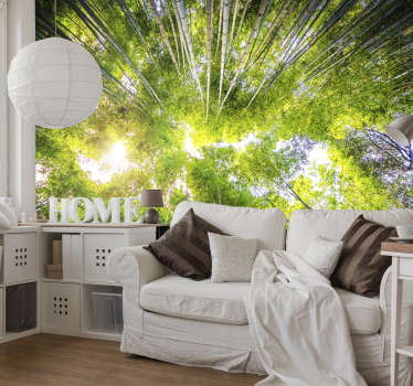 Transform any room in your home into an oriental paradise with this bamboo tree wall mural. Worldwide delivery available now!