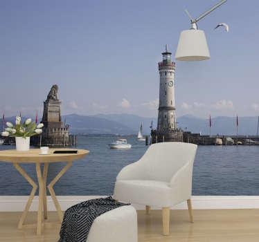 Möchten Sie jemals auf ein Boot springen und wegsegeln? Mit dieser Stadtfototapete, das den Hafen von Konstanz in Deutschland zeigt, wird es möglich sein!