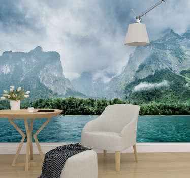 Was für ein schönes und mysteriöses Bild! Dieses Landschaftswandbild zeigt den Königigssee in Bayern, Deutschland und ist perfekt für Ihr Wohnzimmer!