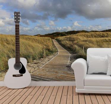 Unsere moderne Tapete besteht aus hochwertigen Materialien, ist sehr langlebig und hält lange. Genießen Sie diesen Blick auf die Dünen in Nordsee Deutschland.