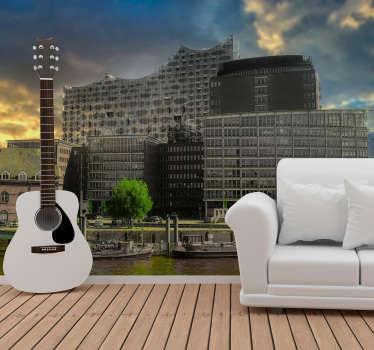 Diese Stadt Fototapete mit der Elbphilharmonie in Hamburg ist eine Erscheinung, die Sie in Ihrem Zuhause brauchen. Kaufen Sie es in der Größe, die Sie benötigen!