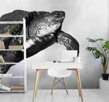 Black and white wall mural with a turtle will be a perfect decoration of your office. High quality image and matte colours. Free delivery!