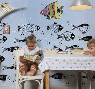 Children bedroom wall mural decoration to create an amazing and peaceful feeling . It is easy to apply and made of high quality.