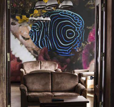 Une photo murale poisson pour votre maison, bureau, salon, etc. Cette décoration murale présentée avec un poisson d'une couleur bleu exotique d'un fond coloré profond.