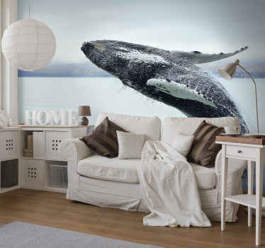 Decorate the home in  style and uniqueness with our original Humpback whale animal wall mural made from high quality material.