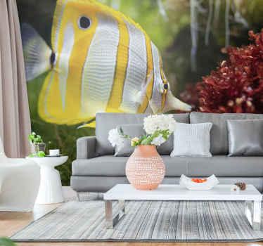 Une photo murale poisson que vous pouvez utiliser pour décorer la maison avec style et classe. Elle est facile à appliquer et très adhésive.