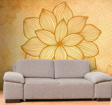 Floral flock paisley flower wall mural to beautify your home space. It is made with high quality material and it application is easy.