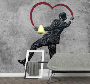Urban art wall mural design of banksy graffiti art work. An impressive design for street art lovers. This product is made of high quality.