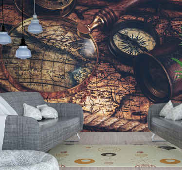 Brown painting world map wall mural suitable for an office, a lounge and living room. It is a super amazing design with geographical details.