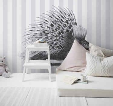 Un magnífico fotomural animales en blanco y negro. Elija este diseño para el cuarto de sus hijos ¡Envío gratuito!
