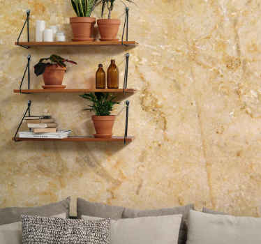 Brown marble mural design which features a marble rock with a beautiful intricate pattern. Extremely long-lasting material.