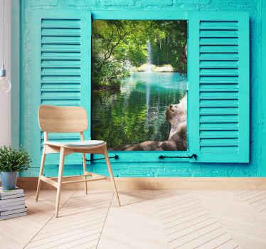 Kursunlu瀑布景观墙壁画设计。您会在任何空间上都喜欢的惊人景观设计。易于应用和高品质。