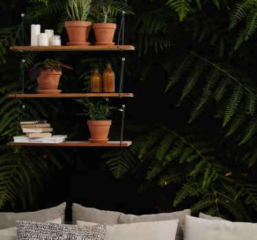 ¿Buscas algo natural verde para decorar tu casa? Aquí hay un diseño de fotomural naturaleza de plantas de helecho ¡Envío gratuito!