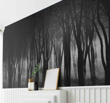 Looking for something exceptional to to decorate your home? Here we got you a foggy forest photo mural. Easy to apply and of high quality.