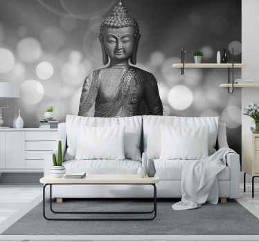 Photo murale zen Bouddha d'argent