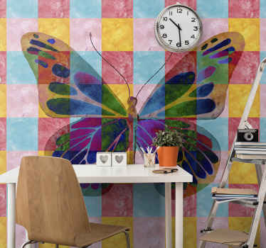 Beautify multicolored butterflies wall mural for children bedroom space. It is original, durable, easy to apply and available in different sizes.