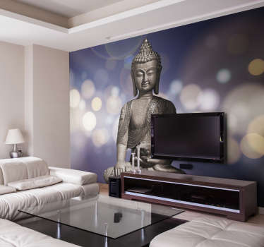 Let this amazing Buddha statue wall mural be your guide to finally finding inner peace. Order now for free worldwide delivery!