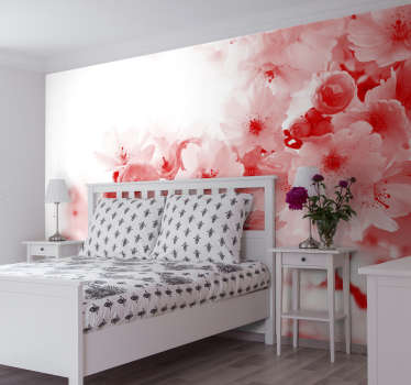 Bring a sense of the abstract while maintaining a natural feeling with this awesome red tree wall mural. Worldwide delivery available!