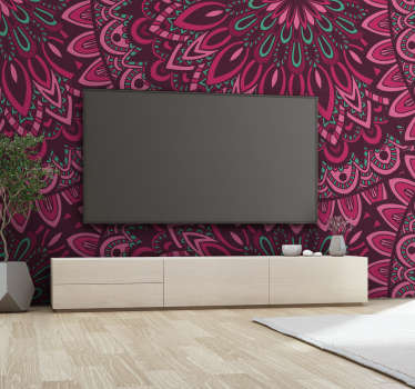 Turn any room in your house into a place of complete zen with this beautiful floral mandala wall mural. Worldwide delivery available!