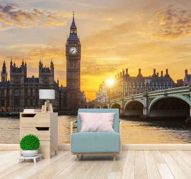 City wallpaper photo with the image of the London Westminster, ideal for any place in your home where you want to give this modern and elegant touch.