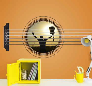 Müzikli duvar duvarımızla kendinizi en iyi müziklerle kucaklayın. Herhangi bir müzik aşığı için mutlak inanılmaz bir dekorasyon! Bugün onu dinle!