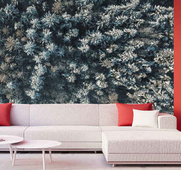 Hanki tunne kylmässä luonnossa jäätyneiden puiden seinämaalauksella lintujen näkökulmasta! Voit tilata luonto valokuvatapetti verkkokaupastamme!