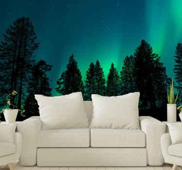 Tämä pohjoisen valon tapetti kuvalla näyttää upean maisemanäkymän valoista, joka muistuttaa meitä kaikkia maailmamme muista maista. Osta nyt!
