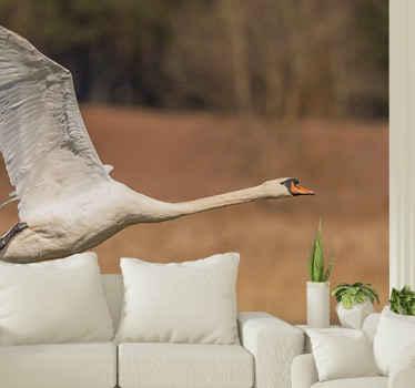Joutsenlintu luonto maisema tapetti kuvalla, joka kaunistaa kotiisi rauhallisella ja rauhoittavalla auralla. Se on helppo levittää ja parasta laatua.