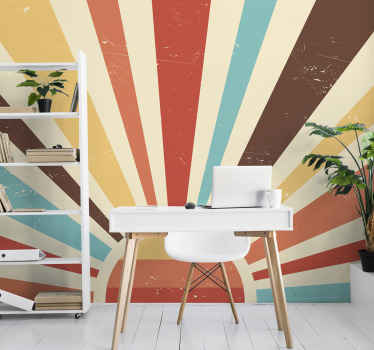 Original retro sunset time beach photomural to decorate any space in your house you want. High quality product delivered to your front door!