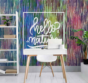 Incredible multicoloured animal print wall mural with text! Sign up today to receive a 10% discount on your first order.