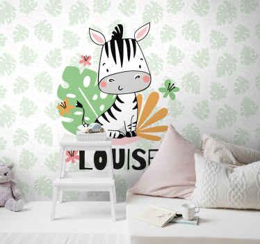 Une merveilleuse murale pour enfants sur le thème des animaux à laquelle vous pouvez ajouter une touche personnelle! Livraison à domicile