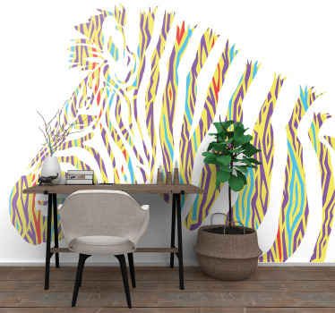 Give your walls the decoration of the century with this cool looking vintage zebra wallmural. Have it at your doorstep in just some days now!