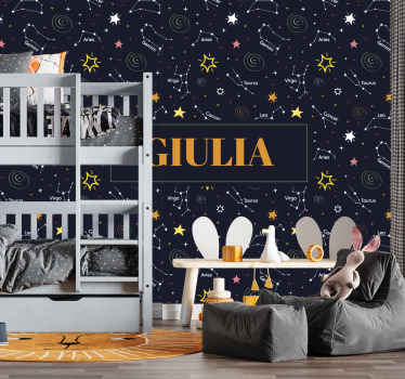 Give your child something fun and unique to look at in their room today with this cool and personal star wallsticker product today! Buy it now!