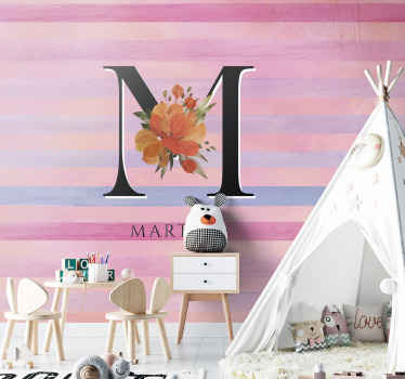 You can finally decorate your girl's room in ar original way that makes her happy and fell special with our kids room mural!