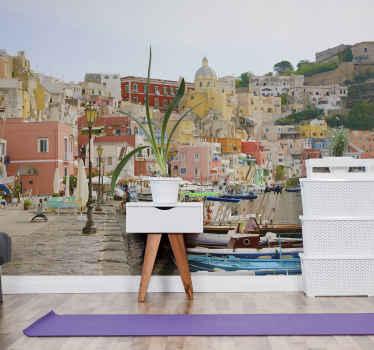 Эта удивительная наклейка на стену изображает пейзаж Неаполя. Вы можете доверять нашим высококачественным материалам, которые упростят нанесение.