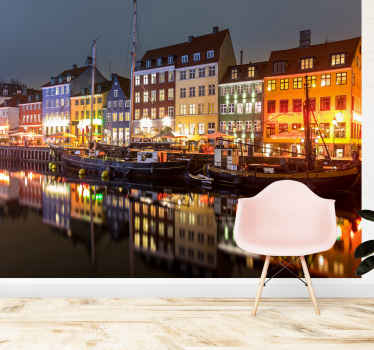 Do you like Denmark? Then you have to get this mural wallpaper! The wall mural will bring some city excitement and peace to your room.