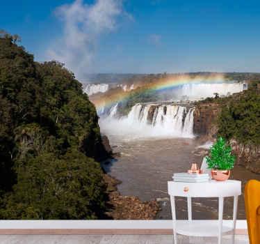 возьмите природу в свой дом с этой красивой росписью с водопадом! Вы чувствуете, что с каждой минутой расслабляетесь.