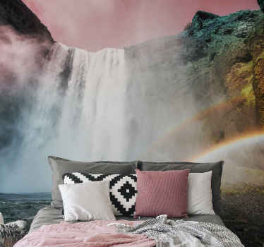 Give a unique and tasty look to your home with this beautiful waterfall wall mural! Enter your home and see the rainforest