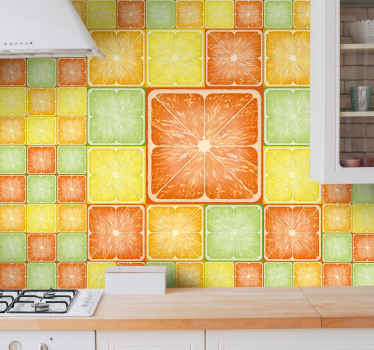 This colorful citrus texture  texture wall mural is produced with nothing less than the best of quality material on the market.