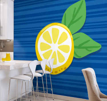 Hand draw lemons kitchen wall mural to bring transforming look and presence on your kitchen or restaurant space. Made with quality material.