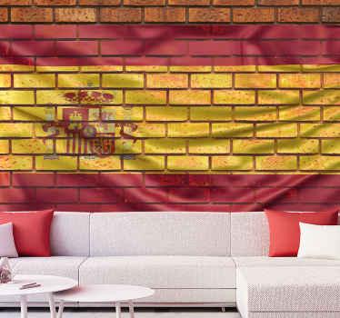 флаг на кирпичах нестандартной росписи. кирпичная стена фон. выберите прозрачный флаг для дизайна. покажи свои цвета. любой флаг, какой хотите!