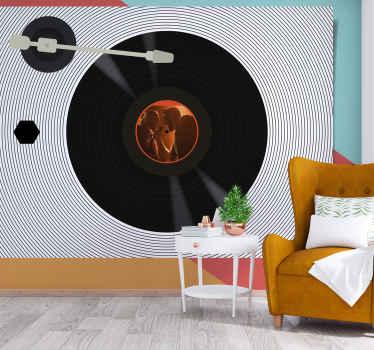 Vinyl platen zelfklevend fotobehang dit vintage fotobehang heel makkelijk schoon te maken en makkelijk aan te brengen. Bestel hem nu!