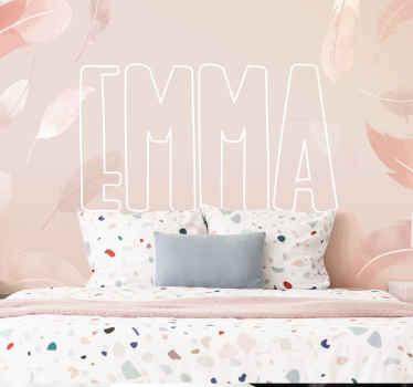 Ce papier peint personnalisé plumes roses peut être décoré sur n'importe quel espace de chambre, que ce soit pour un espace adulte ou pour enfants.