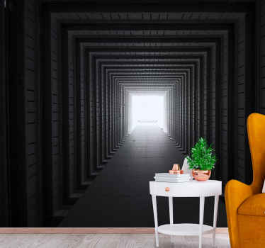 Realist visual effect concrete tunnel wall mural to beautify the wall space of your home, office, business space, spa, salon, etc.