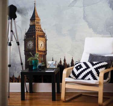 Nevjerojatan zidni zid sa panoramskim pogledom na veliki ben london savršeno za uređenje bilo koje sobe! Nemojte više čekati i naručite svoje odmah! Kućna dostava! Odaberite svoju veličinu