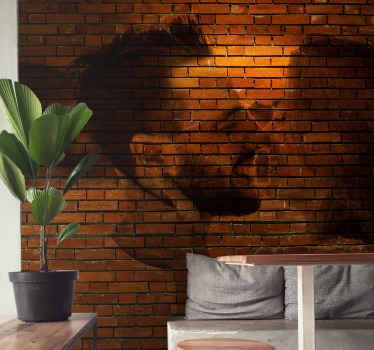 Brick textured photo customizable 3D wall mural - This would be nice for bedroom, living room and other space. Produced with quality material.