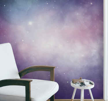 Amazing and superb space themed mural!