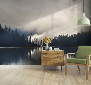 Very modern and relaxant living room mural. Perfect for decorating everywhere at home and office.